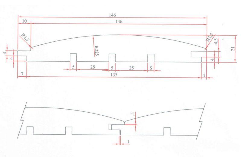 Deska elewacyjna półbal 21x146 -